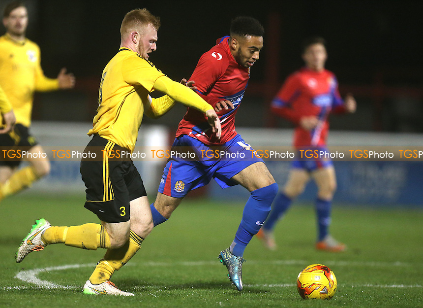 Jake Mulraney of Dagenham during Dagenham and Redbridge vs Basildon United, BBC Essex Senior Cup Football at the Chigwell Construction Stadium, London, England on 03/11/2015