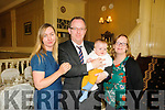 Baby Richard Gaffney with his nparents Stephanie Savage & Padraic Gaffney, Listowel & Dublin and god mother Annmarie Moran who was christened in Moyvane Church by Fr. Kevin McNamara on Saturday last and afterwards at the Listowel Arms Hotel.