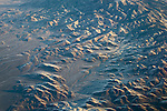Aerial view over mountains in winter in the Great Basin; Nevada