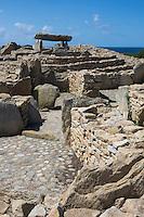 France, Bretagne, (29), Finistère, Pays Bigouden,  Plouhinec (Finistère) : La nécropole mégalithique de la pointe du Souc'h est composée de plusieurs sépultures néolithiques (cinq dolmens et une tombe du Néolithique moyen). Elle est située à Menez Dregan, lieu-dit de la commune de Plouhinec, // France, Brittany, Finistere, Bigouden, Plouhinec (Finistere):