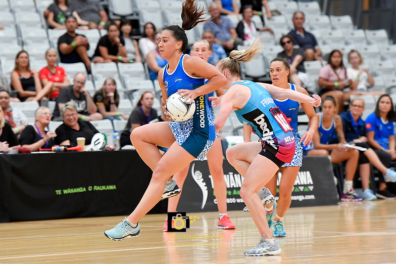 Netball Pre Season Tournament - Mystics v Steel at Ngā Purapura, Otaki, New Zealand on Saturday 9 February  2019. <br /> Photo by Masanori Udagawa. <br /> www.photowellington.photoshelter.com