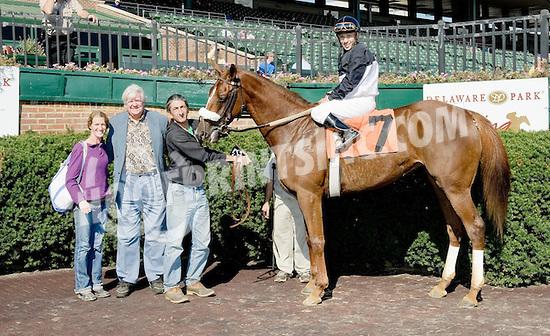 Balttimore Bianca winning at Delaware Park on 10/22/12