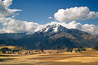 Formed by the Urubamba River, The Sacred Valley of the Incas or Urubamba Valley is one of the most important areas for maize production in Peru. It is a narrow, winding valley with spectacular snow capped peaks constantly in view.