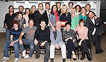 (Front Row L-R) Nicholas Barasch, Peter Benson, Andy Karl, Jim Norton, Chita Rivera, Kiira Schmidt, (2nd row) Eric Sciotto, Jim Walton, Kyle Coffman, Jessie Mueller, Shannon Lewis, Gregg Edelman, Will Chase, Stephanie J. Block, Andy Karl, Betsy Wolfe, Spencer Plachy, Jenifer Foote, Alison Cimmet, Janine DiVita, Nick Corley and Justin Greer  attend the Photo Call for the cast of Roundabout Theatre Company's 'The Mystery of Edwin Drood' in their New York City rehearsal hall. 10/2/2012