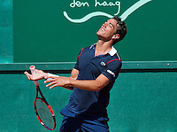 Netherlands, The Hague, Juli 21, 2015, Tennis,  Sport1 Open, Jesse Huta Galung (NED) ereacts<br /> Photo: Tennisimages/Henk Koster