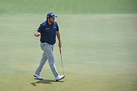 Shane Lowry (IRL) sinks his putt on 18 during round 3 of The Players Championship, TPC Sawgrass, at Ponte Vedra, Florida, USA. 5/12/2018.<br /> Picture: Golffile | Ken Murray<br /> <br /> <br /> All photo usage must carry mandatory copyright credit (&copy; Golffile | Ken Murray)