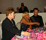 Elton John , Donnatella Versace & David.**EXCLUSIVE**.2003 amFAR Cinema Against Aids-Cannes Film Festival.Moulin de Mougins.Thursday, May 22, 2003.Mougins, France.Photo By Celebrityvibe.com/Photovibe.com