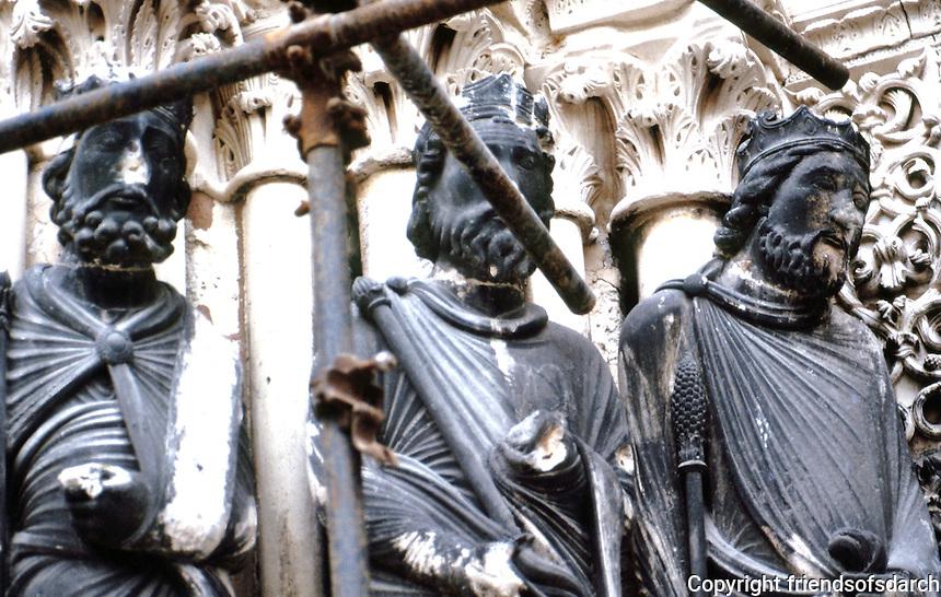 Paris: Abbey of Saint-Denis--North Transept, detail. Photo '90.