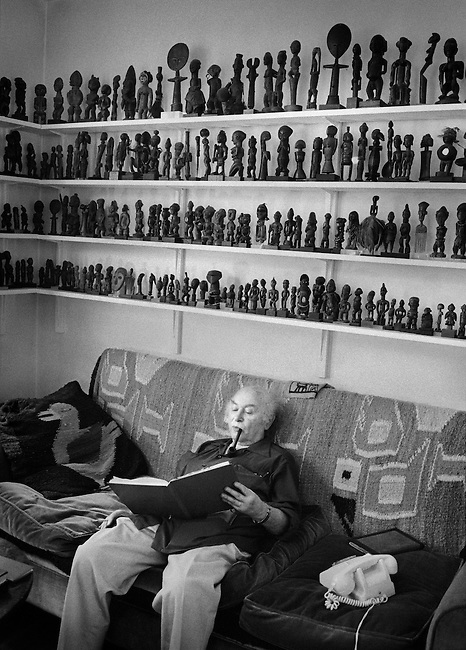 Josef Herman in his studio,<br />