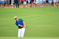Rory McIlroy (NIR) chips on to 10 during Sunday's final round of the PGA Championship at the Quail Hollow Club in Charlotte, North Carolina. 8/13/2017.<br /> Picture: Golffile | Ken Murray<br /> <br /> <br /> All photo usage must carry mandatory copyright credit (&copy; Golffile | Ken Murray)