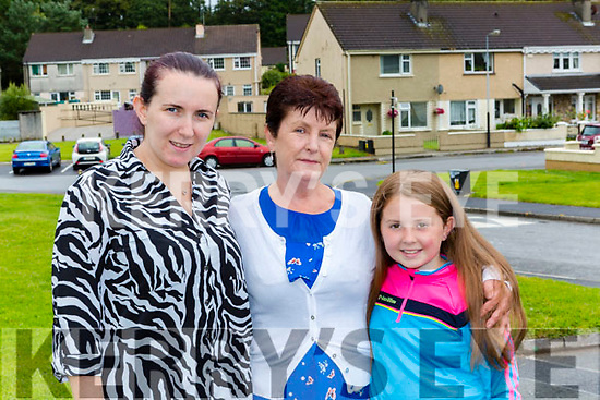 Three generations Lorraine Fitzgerald, Joan and Kaysey O'Connor at the Ballyspillane anniversary celebrations