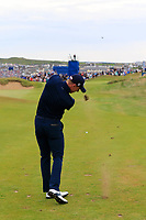 Grant Forrest (SCO) plays his 2nd shot on the 17th hole during Sunday's Final Round of the Dubai Duty Free Irish Open 2019, held at Lahinch Golf Club, Lahinch, Ireland. 7th July 2019.<br /> Picture: Eoin Clarke | Golffile<br /> <br /> <br /> All photos usage must carry mandatory copyright credit (© Golffile | Eoin Clarke)