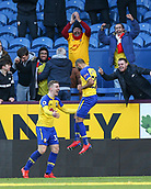 2nd February 2019, Turf Moor, Burnley, England; EPL Premier League football, Burnley versus Southampton; Nathan Redmond of Southampton celebrates with Matt Targett of Southampton after he scores to make it 0-1 in the 55th minute