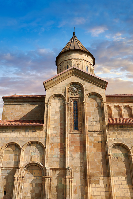 """Picture & image of Samtavisi Georgian Orthodox Cathedral, 11th century, Shida Karti Region, Georgia (country)<br /> <br /> Built during the so called 10-11th century """"Georgian Golden Era"""" Samtavisi cathedral is a built in classical Georgian style of the period. Layout on a cruciform ground plan with a high central cylindrical central cupola."""