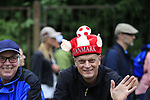 Danish fans during Stage 1, a 14km individual time trial around Dusseldorf, of the 104th edition of the Tour de France 2017, Dusseldorf, Germany. 1st July 2017.<br /> Picture: Eoin Clarke | Cyclefile<br /> <br /> <br /> All photos usage must carry mandatory copyright credit (&copy; Cyclefile | Eoin Clarke)