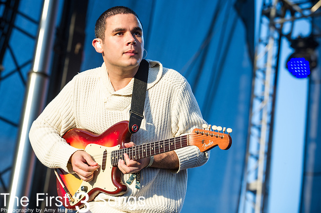 Rostam Batmanglij of Vampire Weekend performs during Day 3 of the 2013 Firefly Music Festival in Dover, Delaware.