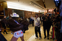 The Naked Cowboy poses for members of the media inside of Trump Tower in Manhattan, New York, U.S., on Friday, November 18, 2016. <br /> Credit: John Taggart / Pool via CNP /MediaPunch