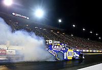 Sep 13, 2013; Charlotte, NC, USA; NHRA funny car driver Ron Capps during qualifying for the Carolina Nationals at zMax Dragway. Mandatory Credit: Mark J. Rebilas-
