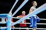 Glasgow 2014 Commonwealth Games<br /> Wales boxing coach Colin Jones.<br /> Sean McGoldrick, Wales (Blue) v Jackson Woods, Australia (Red)<br /> Men's Bantam (56kg)<br /> Coach Colin Jones<br /> <br /> 28.07.14<br /> &copy;Steve Pope-SPORTINGWALES