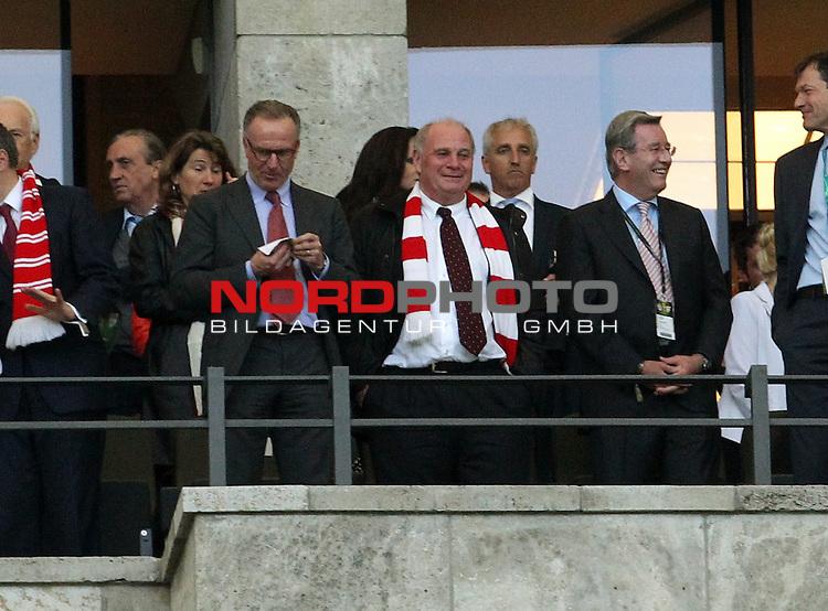 01.06.2013, Olympiastadion, Berlin,<br /> GER, DFB-Pokal, 1.FC Bayern M&uuml;nchen, VfB Stuttgart<br /> im Bild Ulli Hoeness, Rummenigge<br /> <br /> <br /> <br /> Foto &copy; nph / Schulz