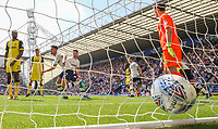 Preston North End's Callum Robinson celebrates scoring the opening goal  <br /> <br /> Photographer Alex Dodd/CameraSport<br /> <br /> The EFL Sky Bet Championship - Preston North End v Burton Albion - Sunday 6th May 2018 - Deepdale Stadium - Preston<br /> <br /> World Copyright &copy; 2018 CameraSport. All rights reserved. 43 Linden Ave. Countesthorpe. Leicester. England. LE8 5PG - Tel: +44 (0) 116 277 4147 - admin@camerasport.com - www.camerasport.com