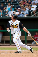 Elih Villanueva (37) of the Jacksonville Suns during a game vs. the Carolina Mudcats May 31 2010 at Baseball Grounds of Jacksonville in Jacksonville, Florida. Jacksonville won the game against Carolina by the score of 3-2. Photo By Scott Jontes/Four Seam Images