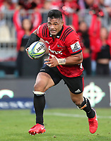 Action from the round two Super Rugby match between the Crusaders and the Chiefs at AMI Stadium in Christchurch, New Zealand on Saturday, 24 February 2018. Photo: Martin Hunter/ lintottphoto.co.nz