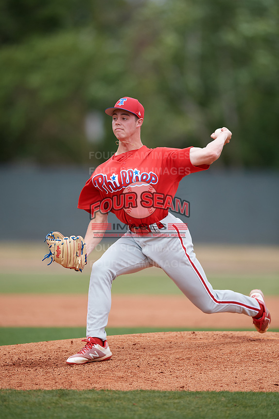 Philadelphia Phillies pitcher Will Stewart (58) during a Minor League Spring Training game against the Toronto Blue Jays on March 30, 2018 at Carpenter Complex in Clearwater, Florida.  (Mike Janes/Four Seam Images)