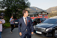 Austria, Kitzbuhel, Juli 15, 2015, Tennis, Davis Cup, Dutch team arriving at official  dinner, pictured: Jean-Julien Rojer<br /> Photo: Tennisimages/Henk Koster
