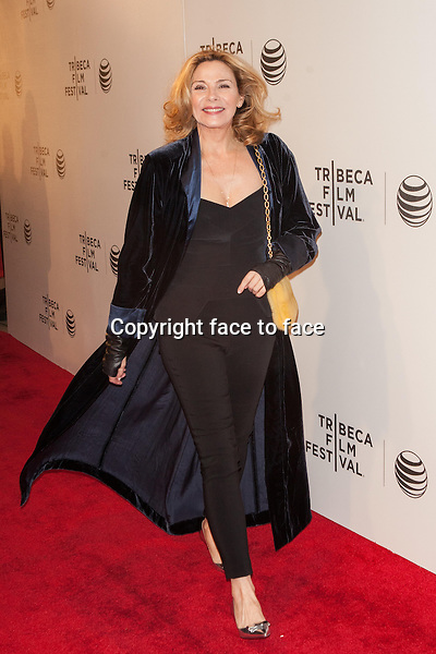 NEW YORK, NY - APRIL 21: Kim Cattrall attends Tribeca Talks: After the Movie: 'NOW: In the Wings on a World Stage' during the 2014 Tribeca Film Festival at BMCC Tribeca PAC on April 21, 2014 in New York City.<br />