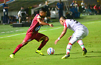 IBAGUÉ-COLOMBIA , 07 -11-2018 .Acción de juego entre el Deportes Tolima y el Once Caldas durante partido por la fecha 14 de la Liga Águila II 2018 jugado en el estadio Manuel Murillo Toro de la ciudad de Ibagué./ .Action game between  Deportes Tolima  and Once Caldas  during the match for the date 14 of the Aguila League II 2018 played at Manuel Murillo Toro  stadium in Ibague city. Photo: VizzorImage/ Juan Carlos Escobar / Contribuidor
