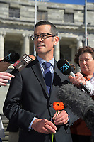 Petition organiser Brad Knewstubb. Semi-automatic weapons ban and firearms advertising regulation petitions at Parliament in Wellington, New Zealand on Thursday, 21 March 2019. Photo: Dave Lintott / lintottphoto.co.nz