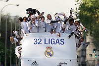 32.05.2012 SPAIN - 2012 Spain Festival celebration champion Real Madrid La Liga 32nd May 03rd. The picture show