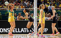 09.10.2016 Silver Ferns Phoenix Karaka in action during the Silver Ferns v Australia netball test match played at Qudos Bank Arena in Sydney. Mandatory Photo Credit ©Michael Bradley.