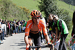 Victor De La Parte (ESP) CCC Team on the Ixua a brutal 20% off road climb during Stage 5 of the Tour of the Basque Country 2019 running 149.8km from Arrigorriaga to Arrate, Spain. 12th April 2019.<br /> Picture: Colin Flockton | Cyclefile<br /> <br /> <br /> All photos usage must carry mandatory copyright credit (&copy; Cyclefile | Colin Flockton)