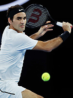MELBOURNE,AUSTRALIA,26.JAN.18 - TENNIS - ATP World Tour, Grand Slam, Australian Open. Image shows Roger Federer (SUI). Photo: GEPA pictures/ Matthias Hauer / Copyright : explorer-media