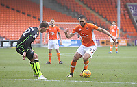 Blackpool's Colin Daniel in action with Bristol Rovers' Joe Partington<br /> <br /> Photographer Mick Walker/CameraSport<br /> <br /> The EFL Sky Bet League One - Blackpool v Bristol Rovers - Saturday 13th January 2018 - Bloomfield Road - Blackpool<br /> <br /> World Copyright &copy; 2018 CameraSport. All rights reserved. 43 Linden Ave. Countesthorpe. Leicester. England. LE8 5PG - Tel: +44 (0) 116 277 4147 - admin@camerasport.com - www.camerasport.com