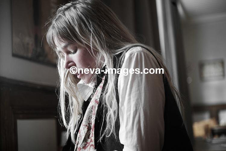 Lausanne, le 21 octobre 2014, Christina Jonsson ex petite amie de la star du Vélo Marco Pantani décédé tragiquement en 2004. © sedrik nemeth