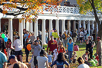 Halloween on the lawn at the University of Virginia.