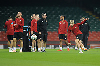 David Brooks of Wales in action during the Wales Training Session at The Principality Stadium in Cardiff, Wales, UK. Wednesday 10 October 2018
