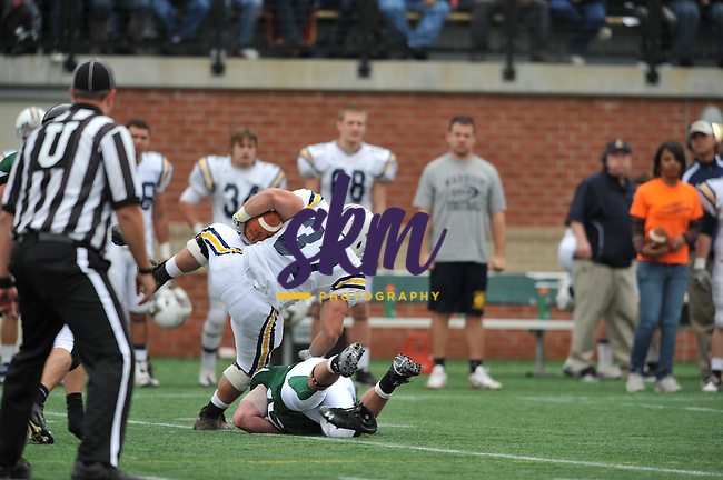 Lycoming Warriors defeated the Mustangs 48 - 14, marking a bittersweet homecoming weekend for Stevenson.