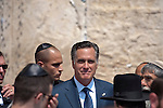 Republican presidential candidate and former Massachusetts Gov. Mitt Romney on a visit to the Western Wall, in Jerusalem, Sunday, July 29, 2012. (Ahikam Seri)