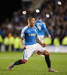 James Tavernier lets rip at the final whistle as Rangers win the Championship