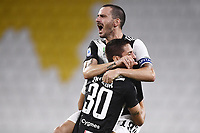 26th July 2020, Turin, Italy; Leonardo Bonucci and Rodrigo Bentancur  during the Seria A league game, Juventus versus Sampdoria