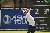 Hideto Tanihara (JPN) in action on the 2nd during Round 1 of the ISPS Handa World Super 6 Perth at Lake Karrinyup Country Club on the Thursday 8th February 2018.<br /> Picture:  Thos Caffrey / www.golffile.ie<br /> <br /> All photo usage must carry mandatory copyright credit (&copy; Golffile | Thos Caffrey)