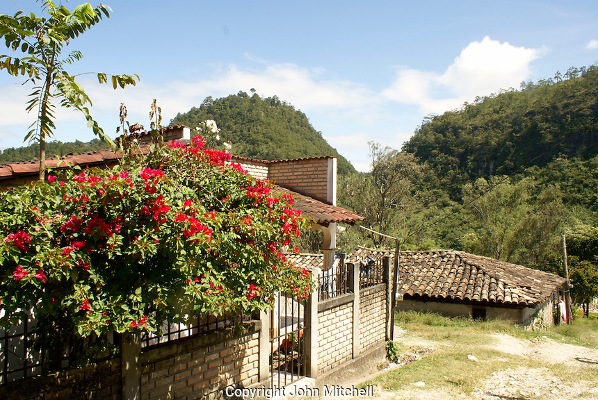 House in the Lenca Indian village of La Campa, Lempira, Honduras...