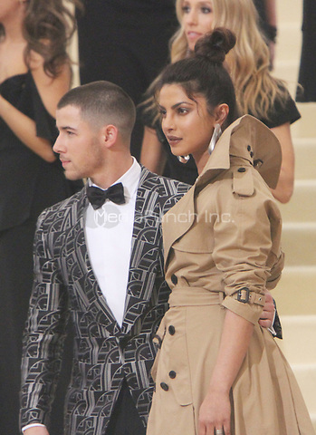 NEW YORK, NY May 01, 2017 Nick Jonas, Priyanka Chopra  attend  The Metropolitan Museum of Art Costume Institute Benefit Gala for Rei Kawakubo Comme des Garcons at  Metropolitan Museum of Art  in New York May 01,  2017. Credit:RW/MediaPunch
