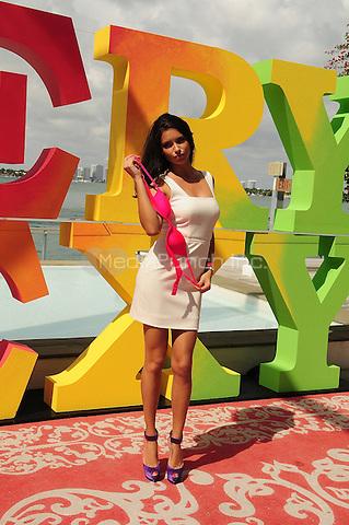 MIAMI BEACH, FL - FEBRUARY 28: Adriana Lima attend the Very Sexy Jet Tour Kicks-Off at Mondrian Miami on February 28, 2012 in Miami Beach, Florida.  (photo by: MPI10/MediaPunch Inc.)