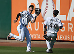Reno Aces' Todd Glaesmann makes the catch against the Tacoma Rainiers at Greater Nevada Field in Reno, Nev., on Sunday, Aug. 28, 2016. Tacoma won 4-3. <br />
