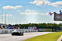 IMSA Continental Tire SportsCar Challenge<br /> Mobil 1 SportsCar Grand Prix<br /> Canadian Tire Motorsport Park<br /> Bowmanville, ON CAN<br /> Saturday 8 July 2017<br /> 57, Chevrolet, Chevrolet Camaro GT4.R, GS, Matt Bell, Robin Liddell, checkered flag, win, winner, finish line<br /> World Copyright: Scott R LePage/LAT Images